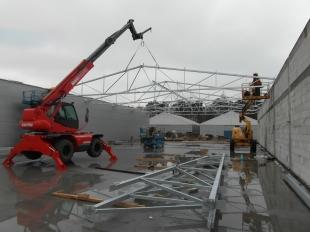 Budowa Hal stalowych Montex v3 - w trakcie realizacji 04 2016