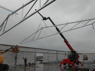 Budowa Hal stalowych Montex v5 - w trakcie realizacji 04 2016